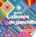 libro 200 Labores De Ganchillo Para Mantas, Colchas Y Tapices