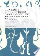 libro Contacts Linguistiques Dans L Occident Méditerranéen Antique