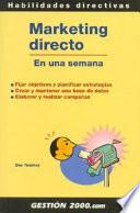libro Marketing Directo En Una Semana