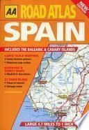 libro Aa Road Atlas Spain